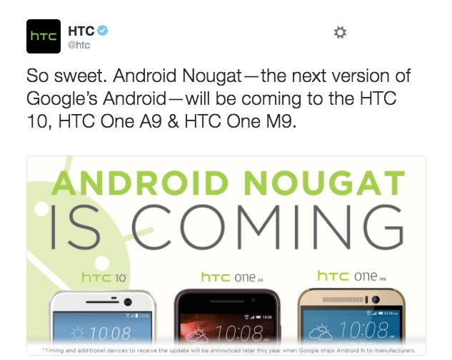 HTCはAndroid Nを搭載