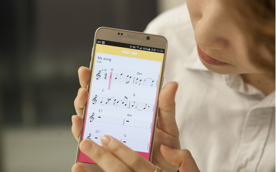 SAMSUNGの「Hum On」
