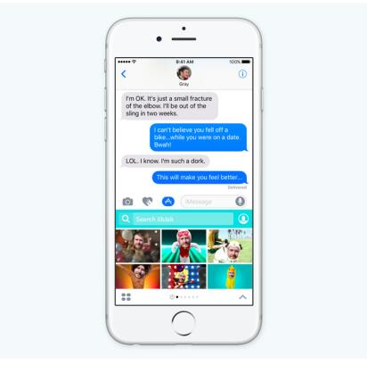 新世代iOS 10iMessage